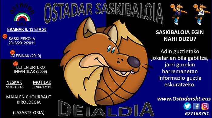 Ostadar Saskibaloi saileko taldeetan parte hartzeko deialdia