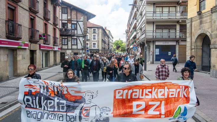Errausketaren aurkako manifestazioa Lasarte-Orian