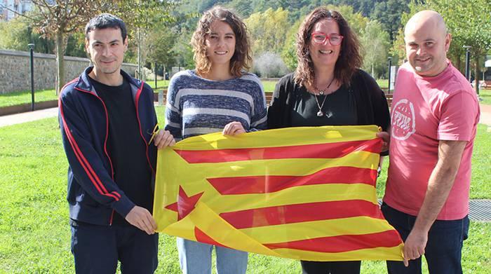 Kataluniari babesa adierazteko adierazpen instituzionala adostu dute EH Bilduk, EAJk eta Elkarrekin Lasarte-Oria Puedek