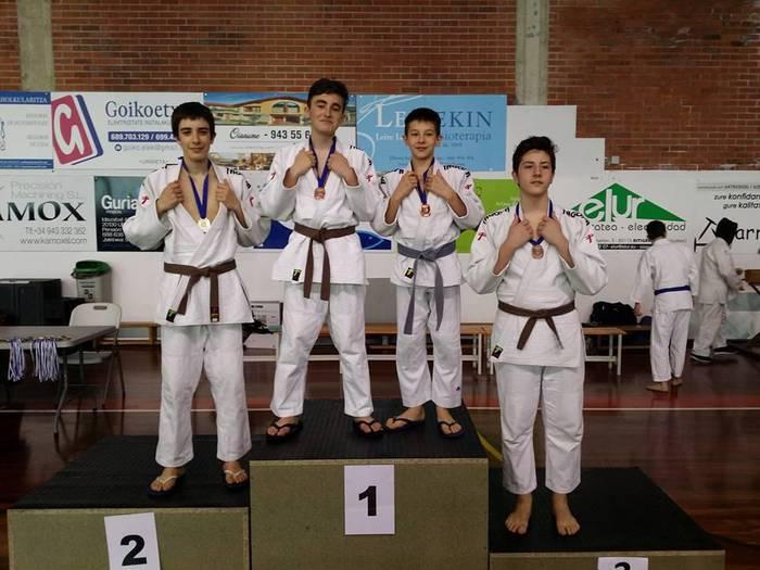 LOKEko judokek, sei domina Gipuzkoako txapelketan