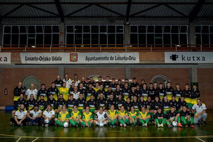 Eguzki klubeko taldeak, ligan konpetitzen hasteko irrikitan