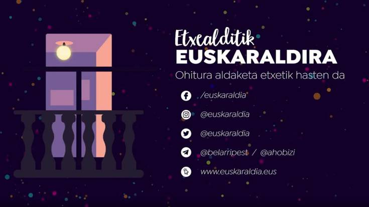 'Etxealditik Euskaraldira' ekimena: azalpenak