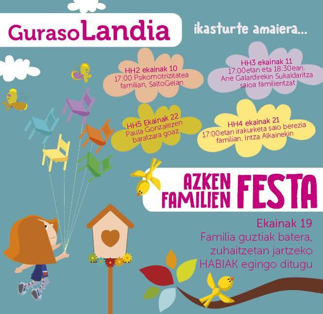 """GURASOLANDIA """"AZKEN FESTA FAMILIAN"""""""