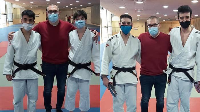 LOKEko judokek, gerriko beltz eta dan berriak