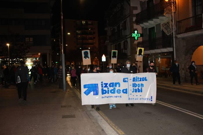 Presoen aldeko manifestazioa gaur 18:30ean, Okendo plazatik abiatuta